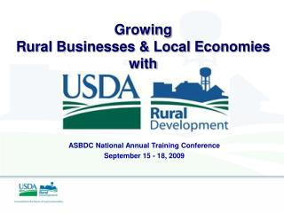 Growing  Rural Businesses & Local Economies  with