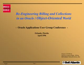 -  Oracle Applications User Group Conference  -  Orlando, Florida April 1996