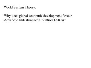 World System Theory: