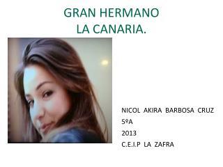 GRAN HERMANO LA CANARIA.