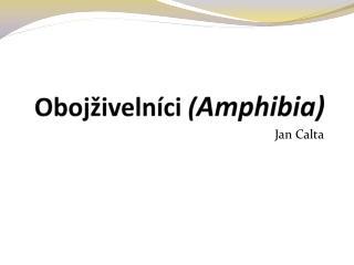 Obojživelníci  ( Amphibia )