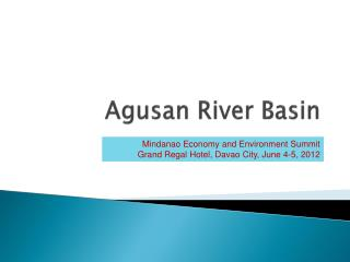Agusan  River Basin