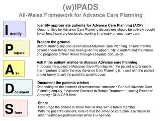 Identify appropriate patients for Advance Care Planning (ACP)