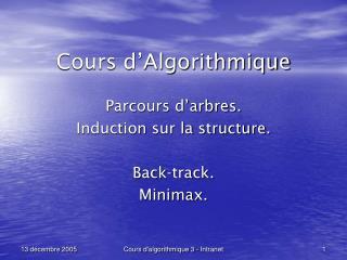 Cours d�Algorithmique