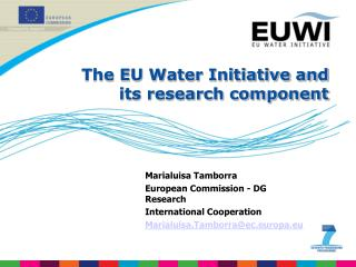 The EU Water Initiative and its research component