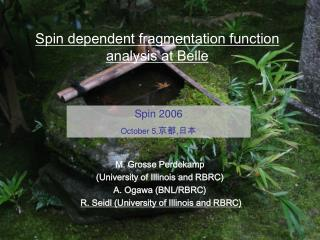 Spin dependent fragmentation function analysis at Belle