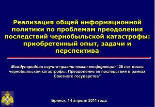 Брянск,  14  апреля 20 11  года