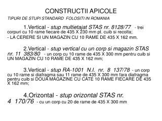 CONSTRUCTII APICOLE