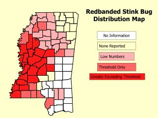 Redbanded Stink Bug Distribution Map