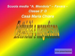"Scuola media ""A. Mendola"" – Favara – Classe 3° D Casà Maria Chiara"