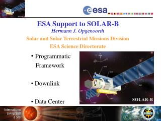 ESA Support to SOLAR-B