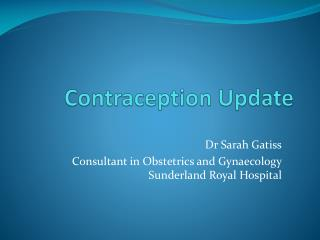 Contraception Update