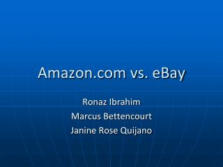 Amazon vs. eBay