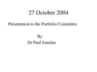 27 October 2004