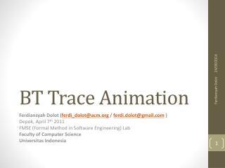 BT Trace Animation