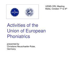 presented by Christiane Neuschaefer-Rube, Germany