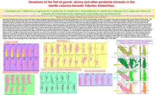 Variations of the Fe# of garnet, olivine and other peridotite minerals in the
