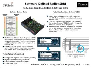Software-Defined Radio (SDR) Radio Broadcast Data System (RBDS) Sub-team ‏