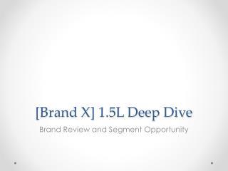 [Brand X] 1.5L Deep Dive