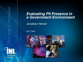 Evaluating PII Presence in  a Government Environment