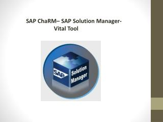 SAP ChaRM– SAP Solution Manager- Vital Tool