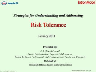 Strategies for Understanding and Addressing Risk Tolerance