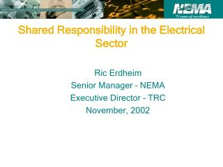 Shared Responsibility in the Electrical Sector