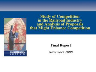 Final Report November 2008