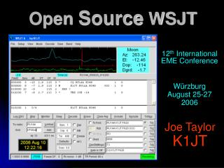 Open Source WSJT