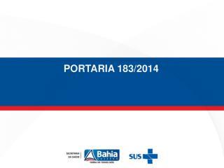 PORTARIA 183/2014