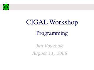CIGAL Workshop   Programming