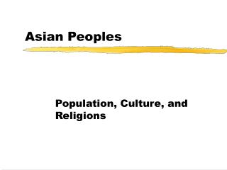 Asian people and culture