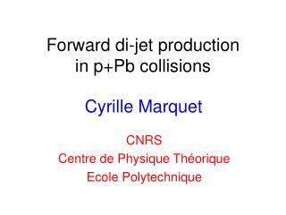 Forward di-jet production in p+Pb collisions