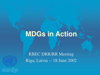MDGs in Action