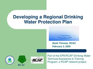 Developing a Regional Drinking Water Protection Plan