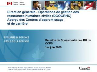 Réunion du Sous-comité des RH du CCPS 1er j uin 2009
