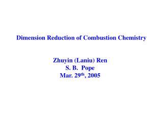 Zhuyin (Laniu) Ren S. B.  Pope Mar. 29 th , 2005