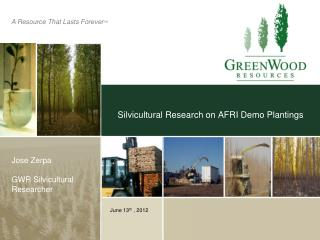 Silvicultural Research on AFRI Demo Plantings