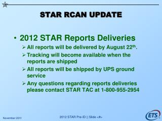 STAR RCAN UPDATE