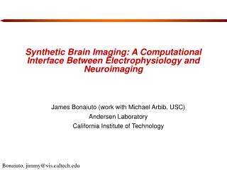 Synthetic Brain Imaging: A Computational Interface Between Electrophysiology and Neuroimaging