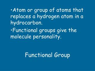 Functional Group