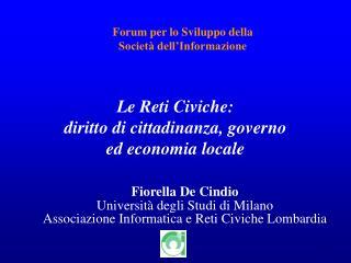 Forum per lo Sviluppo della Società dell'Informazione