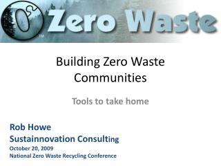 Building Zero Waste Communities