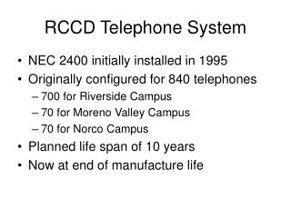 RCCD Telephone System