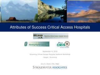 Attributes of Success Critical Access Hospitals