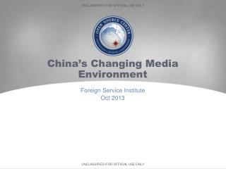 China's Changing Media Environment