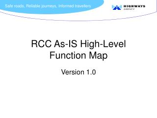 RCC As-IS High-Level Function Map