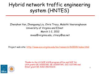 Hybrid network traffic engineering system (HNTES)