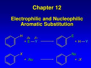 Chapter 12 Electrophilic and  Nucleophilic Aromatic  Substitution