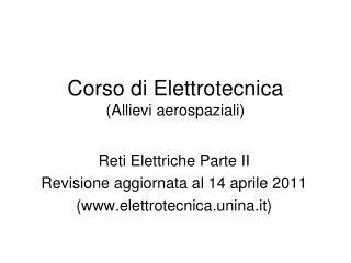 Corso di Elettrotecnica (Allievi aerospaziali)